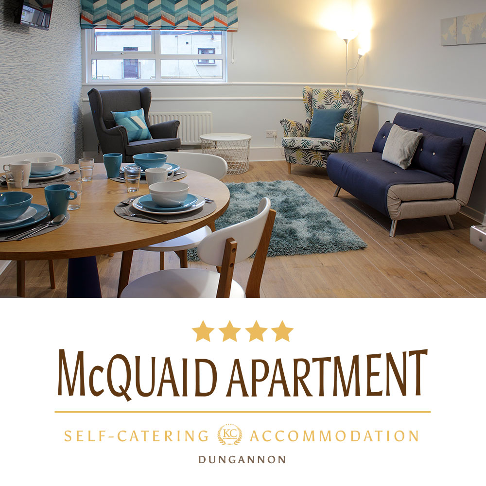 Visit self catering McQuaid Apartment Suite in Dungannon a perfect accommodation for your break.